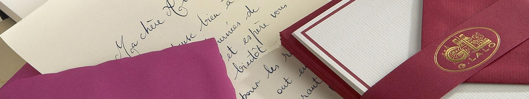 G. Lalo Correspondence Single Bordered Card Set