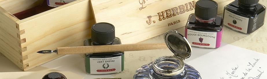 J Herbin Calligraphy-Wooden-Box-Set