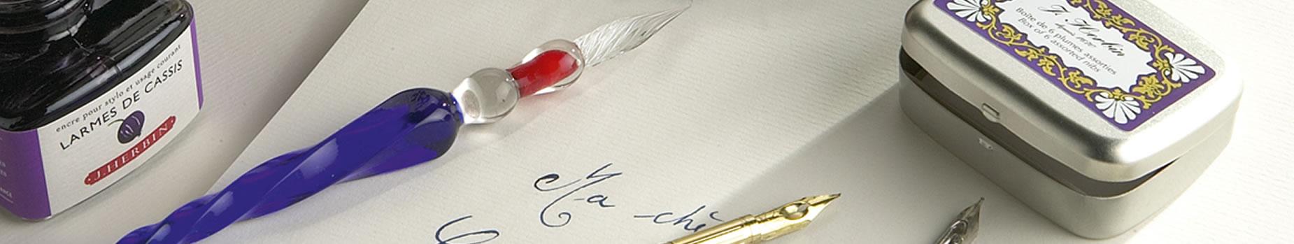 Glass Pen Venetian Writing Set